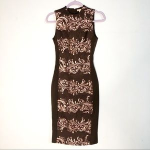 H&M Form-fitting Size 4 Black Dress with Design
